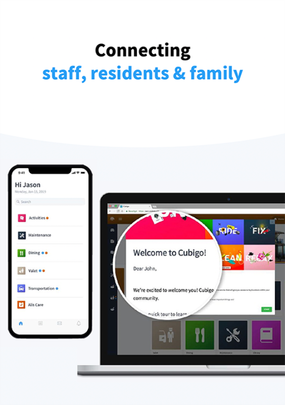 Connecting staff, residents & family