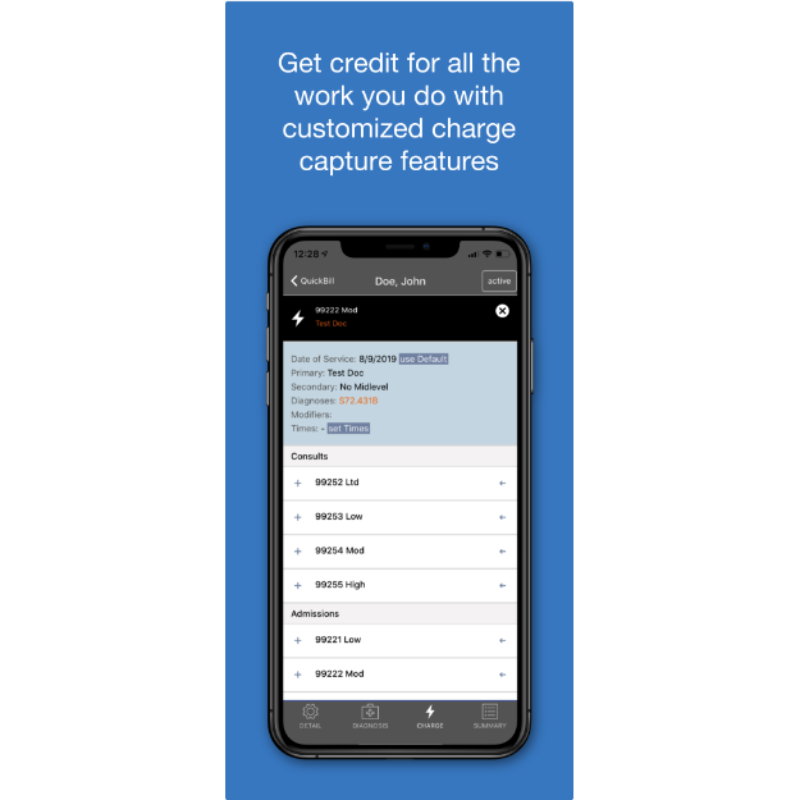 Get Credit for All the Work You Do with Customized Charge Capture Features