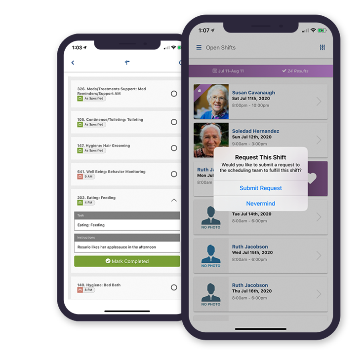 SMARTcare's Mobile Point-of-caregiver App